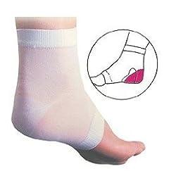 Silipos Soft Skin Heel Sleeve | One Size| Thin Gel Pad | Slip-On Heel Moisturisation | by Silipos