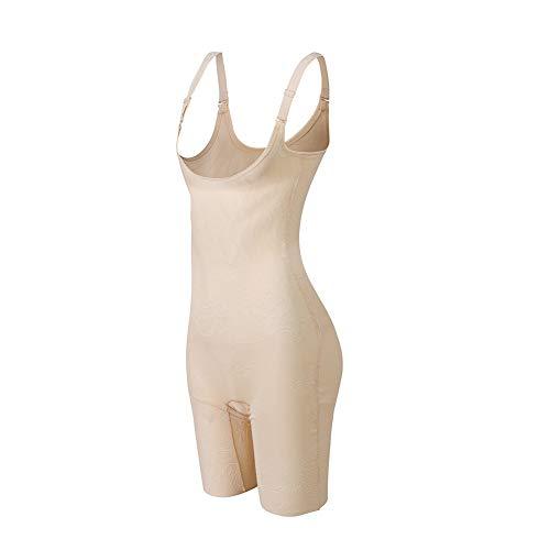 Amazingjoys Damen Shapewear Figurformender Mieder Taillenformer mit Bauch Weg Effekt (Beige, (Für Taille 94-101cm 4XL)