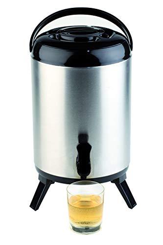 APS Iso-Dispenser - Hochwertiger Isolierbehälter für heiße und kalte Getränke aus rostfreiem Edelstahl - 24cm x 42cm mit 9,5 Liter Fassungsvermögen