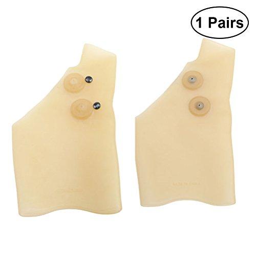 Clispeed 1 Paar Handgelenkbandage aus Gel, Handgelenkstütze, Handgelenkschmerzen in Daumenhandschuhen aus Elastischem Silikon-Gel Wasserdicht Handgelenkbandage für schonendes Tragen durch Schmerzen -