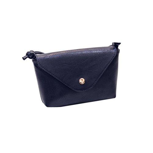 Hunpta Frauen Leder Handtaschen Umhängetaschen Schulter Taschen Messenger Taschen kleine Frauen Taschen Schwarz