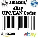 UPC-von-UPC-Datenpaketverlust EAN: GS1Barcodes, für Amazon Ebay 50UPC EAN-Zahlen für alle-,