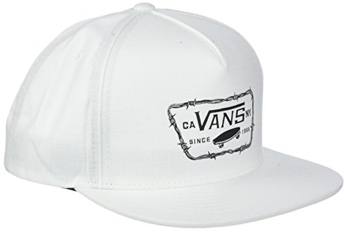 Full Patch Barbed Snapback Baseball Cap, Weiß (White Wht), One Size ()