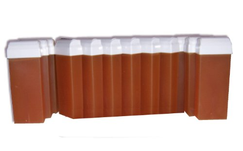 Look concept-12ricariche di cera pinzetta 100ml monouso miele per epilazione con bande