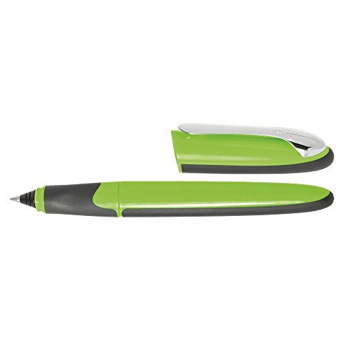 ONLINE 20086/3D - Tintenpatronen-Rollerball Air Green, Dreiecksform, ergonomisches Griffstück, Magic Ball, stabiler Metall-Clip, inkl. Tintenpatrone blau, grün/schwarz