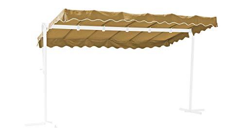GRASEKAMP Qualität seit 1972 Ersatzdach Standmarkise Dubai Sand Raffmarkise Ziehharmonika Mobile Markise
