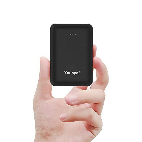 Xnuoyo mini portatile power banks 10000mah caricabatterie batteria esterna con tipo c ingresso(nero)