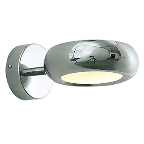 Chrome-transparent-tisch-lampe (YILIAN BIDENG Modernen Stil einfache Persönlichkeit Wandleuchte Schlafzimmer Nachttischlampe einfache Treppe Gang Dekoration Lampe Wandleuchte (Color : Chrome))
