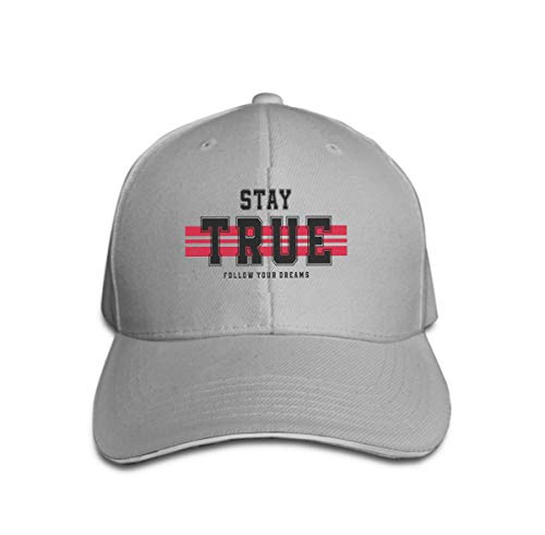 Xunulyn Classic Cotton Hat Adjustable Plain Cap, Baseball Cap Adjustable Size Curved Visor Hat Slogan Graphic Print Design New York modern Typography Stripes Gray -