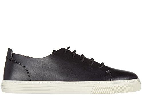 Gucci scarpe sneakers uomo in pelle nuove betis nero EU