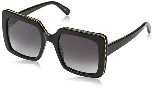 Stella McCartney Unisex-Erwachsene SC0093S 001 Sonnenbrille, Schwarz (001-Black/Grey), 53