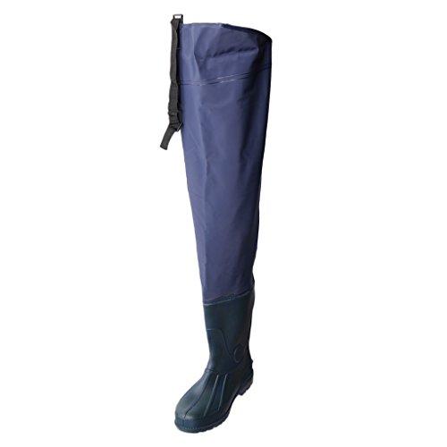 Dolity 1 Par de Botas Deportivas Altas Hip Waders Boots Comodidad Pesca Pescador Accesorio - Azul marino, 42
