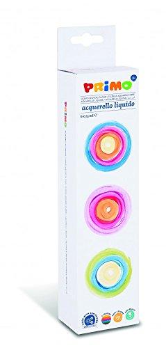 Flüssige Aquarellfarbe für Kinder in 25 ml Napf / Näpfchen, 6 Farben - Aquarellfarben Set