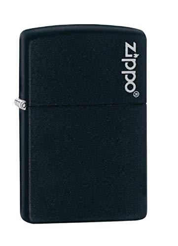 Zippo Sturmfeuerzeug 60001206 - 1290005 , matte schwarz  Logo