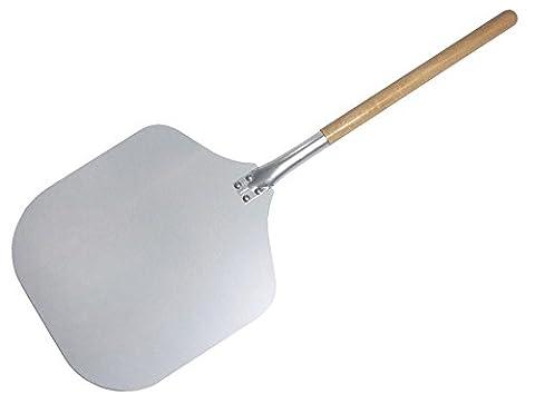 Contacto - Pelle à pizza avec manche en bois - aluminium - longueur du manche 43 cm - 35 x 30,5 cm