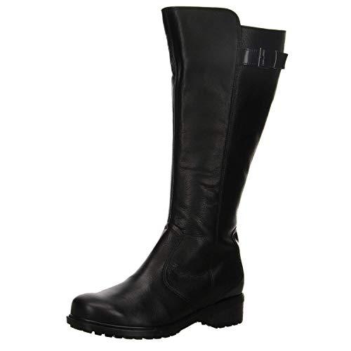 ara Damen Kansas-ST Langschaftstiefel schwarz; dunkel Größe 38 Schwarz (schwarz)