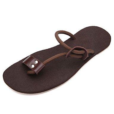pantofole Infradito da uomo Pantofole & amp;Infradito Estate Comfort PU casual Blac Tallone piano sandali US7.5 / EU39 / UK6.5 / CN40