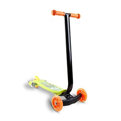 200lb Roller (WeSkate Kinder Scooter Roller Dreiräder mit LED Blinkte Räder und Board, 3 Räder Tretroller Mini Kinderroller Kickscooter Kickroller Tretroller mit Musik für Jüngere Mädchen ab 4-8 Jahre)