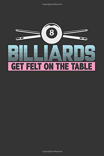 Billiards Get Felt On The Table: A 120 Page College Ruled Blank Notebook -