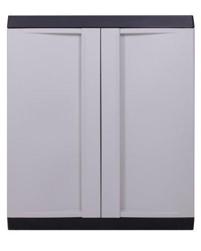 Ondis24 Kunststoffschrank Haushaltschrank TOP Line Multifunktionsschrank abschließbar mit Füßen...