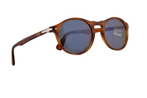 Persol PO3204S Sonnenbrille Terra Di Siena Mit Blauen Gläsern 51mm 9656 PO 3204S PO 3204-S PO3204-S