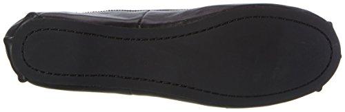 Buffalo 216-6144 Sheep Leather, Ballerines Femme Noir (Black 01)