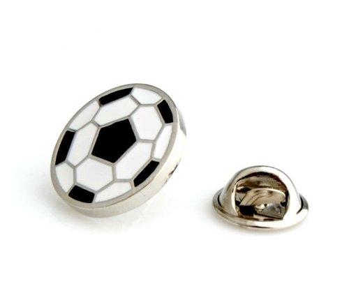 RaRu Fu/ßball-Pokal mit Gravur und Resin-Emblem Spieler 3 Fu0ball-Anstecknadeln.