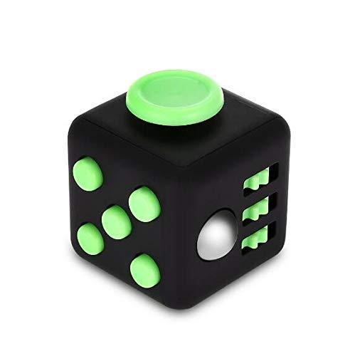 MTSZZF Fidget Cube Toy Anxiété Attention Stress Relief Jersey rembourré Soulage Le Stress