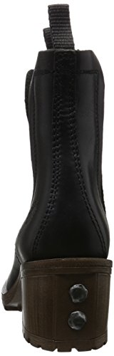 FLY London Damen Luz Chelsea Boots Schwarz (Black 000)