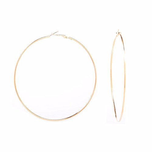 Archi Collection Stylish Designer Fancy Party Wear Golden Hoop Earrings for Girls and Women