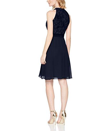s.Oliver BLACK LABEL Damen Partykleid Blau (Love Blue 5959)