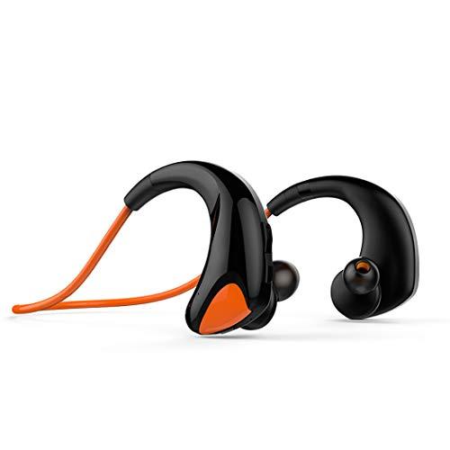 Mzq-yq Mini-Bluetooth-4.1-Headset, kabelloses Sport-Headset mit Nackenmontage, Stereo-Headset, 8-Stunden-Musikwiedergabezeit, 10-Stunden-Sprechzeit (Farbe : Orange)