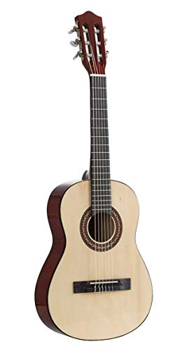 Voggenreiter Kindergitarre 1/2 Größe aus Holz - Gitarre für Kinder ab 6 Jahren für Anfänger geeignet, natur