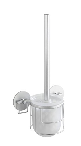 Wenko 18905100 Turbo-Loc Porte Brosse WC Aluminium