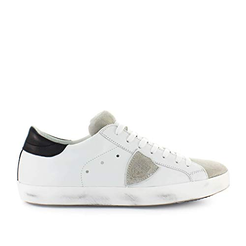Philippe Model Scarpe da Uomo Sneaker Paris Basic Bianco Grigio Primavera  Estate 2019 c68983a9497