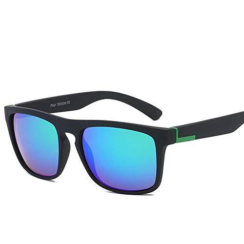 RMJCZQX Sonnenbrillen Mode Retro-Sonnenbrillen Unisex-Sonnenbrillen für den Outdoor-UV-Schutz (blau-grün)