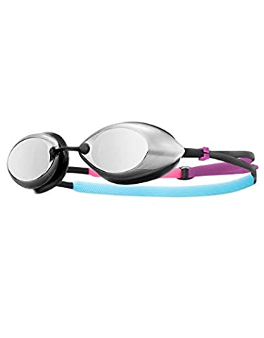 TYR Junior Tracer Racing Mirrored Goggles, Blue/Pink