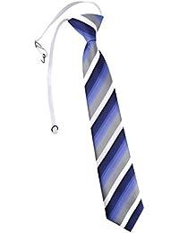 TigerTie Kinderkrawatte in gestreift - Krawatte vorgebunden mit Gummizug