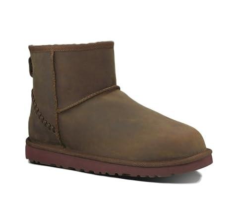 UGG Men's Classic Mini Deco Chestnut Leather Boot 14 D (M)