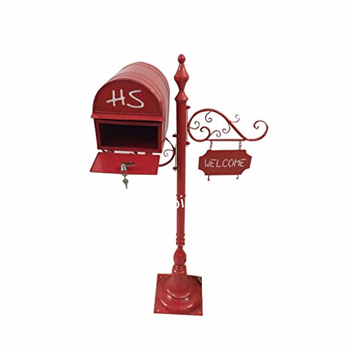 Vertikaler Briefkastenbriefkasten Des Gartens, Kreatives Retro Des Hofbriefkastens Mit Wasserdichtem Briefkasten Des Verschlusses -