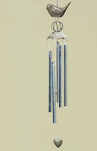 Carillon oiseau 70 cm beige