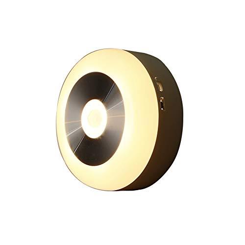 RQINW LED-Nachtlicht, Unterbaubeleuchtung, Nachtbeleuchtung mit Dämmerlicht bis zum Morgengrauen, Fotozelle, USB-Aufladung, Wandnachtlampe Badezimmer, Küche, Flur, Treppe (warmes weißes Licht)