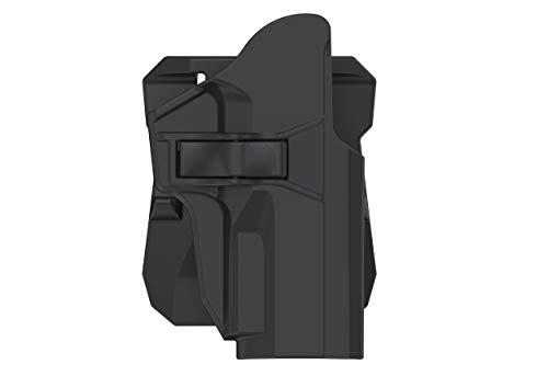 efluky Étui de Ceinture en Pagaie pour Sig Sauer P226 P227 P228 P229, Étui Tactique pour Pistolet Airsoft à Déclenchement par Dégagement en Polymère, Ajustement à 360 degrés, Porte Droit