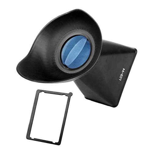 Wenwenzui V3 Dust-Proof LCD Viewfinder 2.8X Magnifier Extender Hood Optical Lens 180°Angle V3 Compact