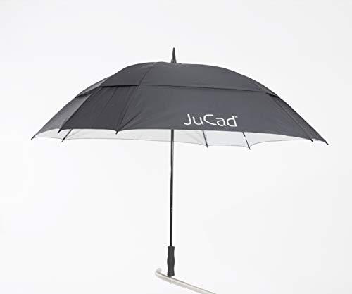 JuCad Golf Schirm Windproof mit Stift schwarz -