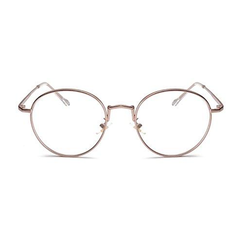 (garantía de vida) gafas anti luz azul antifatiga lectura computer (oro rosa)