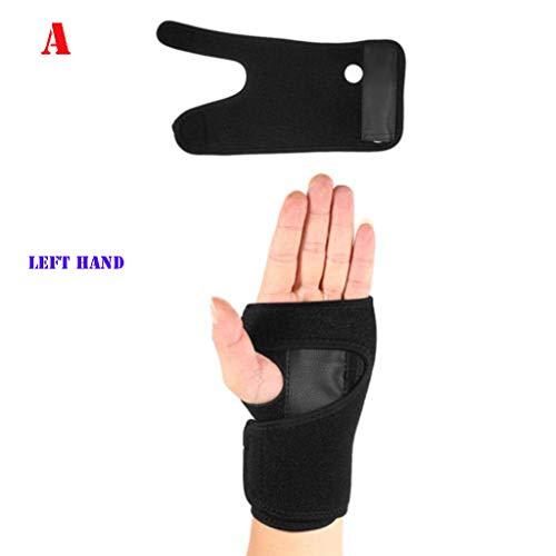 AmyGline Abnehmbares Handgelenk mit Sport Armband Stahlplatte Schutz handfläche/Handgelenkstütze Unterstützung Karpaltunnel Schiene Arthritis Verstauchung Stabilisator Gurt