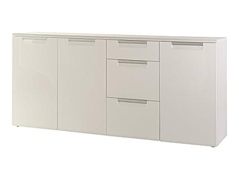 trendteam AL Sideboard Wohnzimmerschrank Kommode | Hochglanz Weiß | 180 x 84 cm