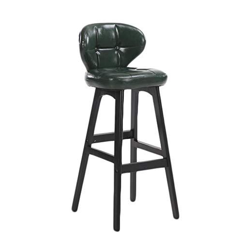 KAI LE Barhocker/Barhocker / Moderne minimalistische Persönlichkeit Barhocker Kreative Massivholz Stuhl Home Wohnzimmer Barhocker (Farbe : 78cm-Black Green)