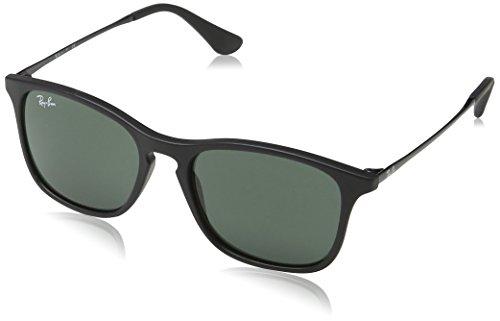 Ray-Ban Junior Kinder RB9061S Sonnenbrille, Schwarz (Gestell: Schwarz, Gläser: Blau verspiegelt 700555), 49-15-130